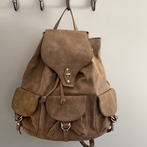 Shiraleah Faux Leather Backpack Tawny NWT